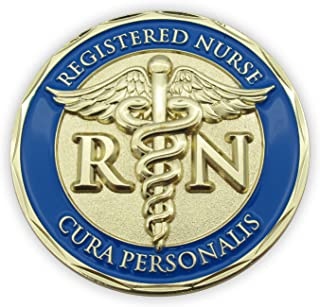 Nurse Coin, The Lord is My Refuge and My Fortress, Psalm 91 and Cura Personalis - Personal Care. Pocket Token of Strength,...