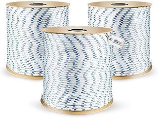 DQ-PP POLYPROPYLENSEIL | 16mm | 25m | WEISS Polypropylen Seil | Tauwerk PP Flechtleine Textilseil Reepschnur Leine Schnur Festmacher Rope Kordel Kunststoffseil Kletterseil geflochten