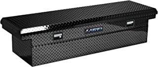 Lund 7111001LP 70-Inch Economy Line Low Profile Aluminum Cross Bed Truck Tool Box, Diamond Plated, Black