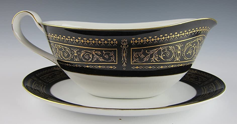 Seyei China ANNIVERSARY Gravy Boat with Underplate(s) EXCELLENT