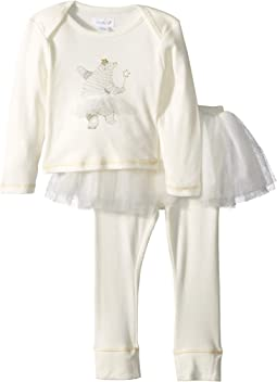 Bear Tutu Long Sleeve Two-Piece Playwear Set (Infant)