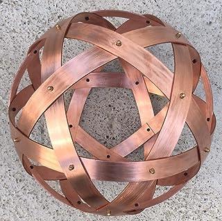 Genesa Pentasfera Rame 32cm di diametro, fasce larghe 30mm e spesse 2mm, fissate con dadi ciechi in ottone.