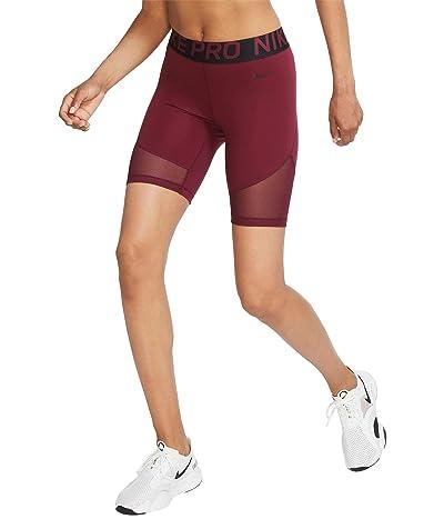 Nike Pro Shorts 8 (Dark Beetroot/Black) Women