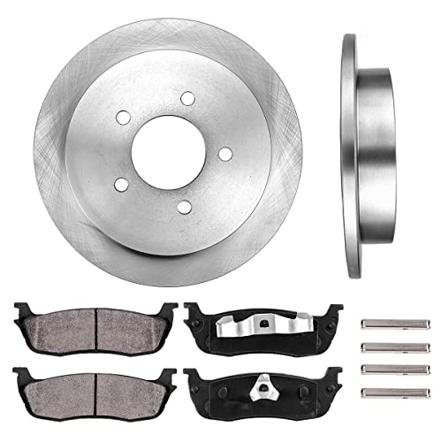 2002 2003 2004 for Ford F-150 Front /& Rear Brake Rotors and Pads 5 Lugs RWD