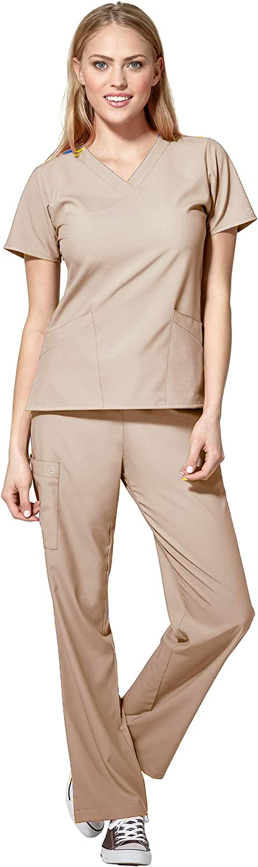 WonderWink overseas W123 Women's Basic V-Neck Pant safety Drawstring Top Scrub