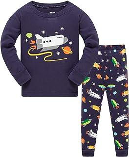 BLOMDES Pijama para Niños Pijamas de Manga Larga para niños 2-8 años