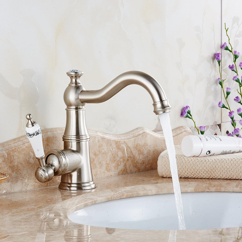Lvsede Bad Wasserhahn Design Küchenarmatur Niederdruck Heies Und Kaltes Kupferdrahtziehwasser Kann Gedreht Werden L6372