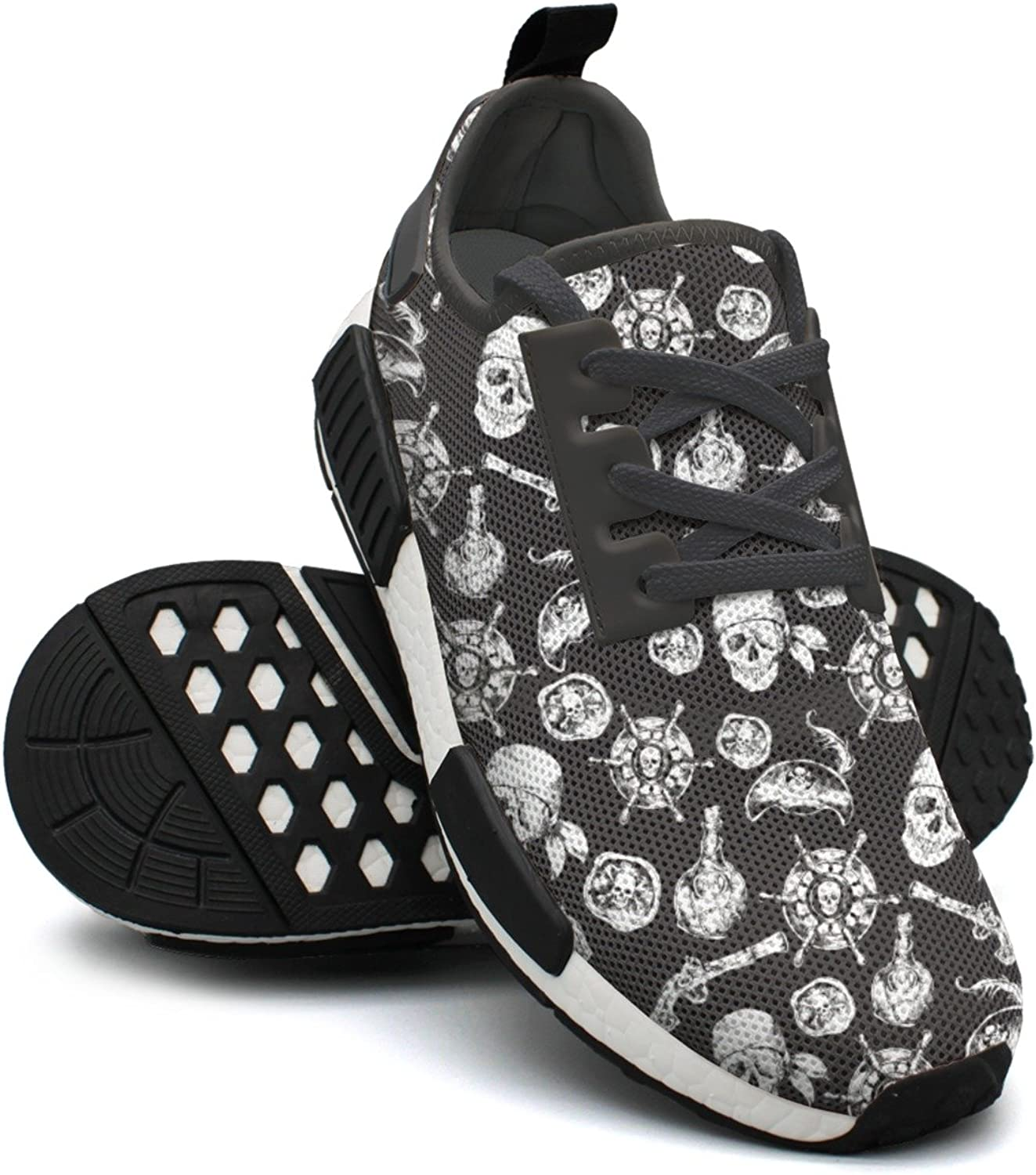 Pirates Skulls Black and White Women's Navy Lightweight Sneaker Gym Outdoor Running shoes