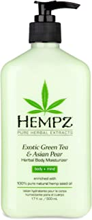 Exotic, Natural Herbal Body Moisturizer with Pure Hemp Seed Oil, Green Tea and Asian Pear, 17 Fluid Ounce - Pure, Nourishi...