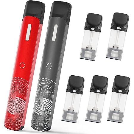 電子タバコ スターターキット model2互換 バッテリー本体×2 フレーバーカートリッジ×5 USB充電式 爆煙 ベイプ ニコチンなし S2-es型 超お得な7点セット NICOCO