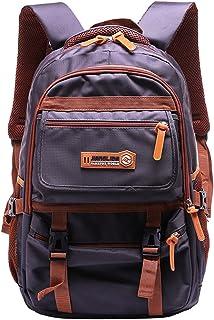 Adanina Nylon Waterproof College Backpack Outdoor Travel Bag Middle High Schoolbag Students Book Bag for Teens
