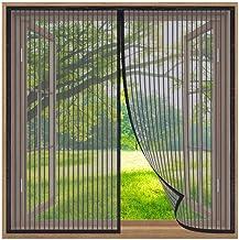 Klamboe voor Ramen,165x210cm Insectenwerende Horren raam,Muggennet met Volledig frame Zelfklevend Tape Venster, Automatisc...