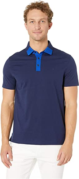 Short Sleeve Color Block Polo