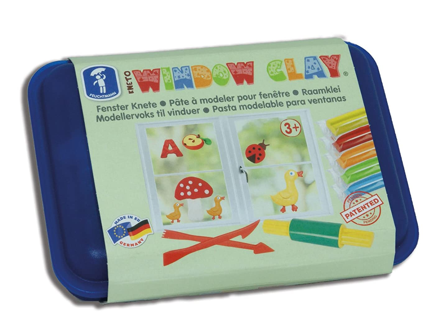 Feuchtmann 628 1407 Kneto Window Clay Lunchbox, Multi Colour