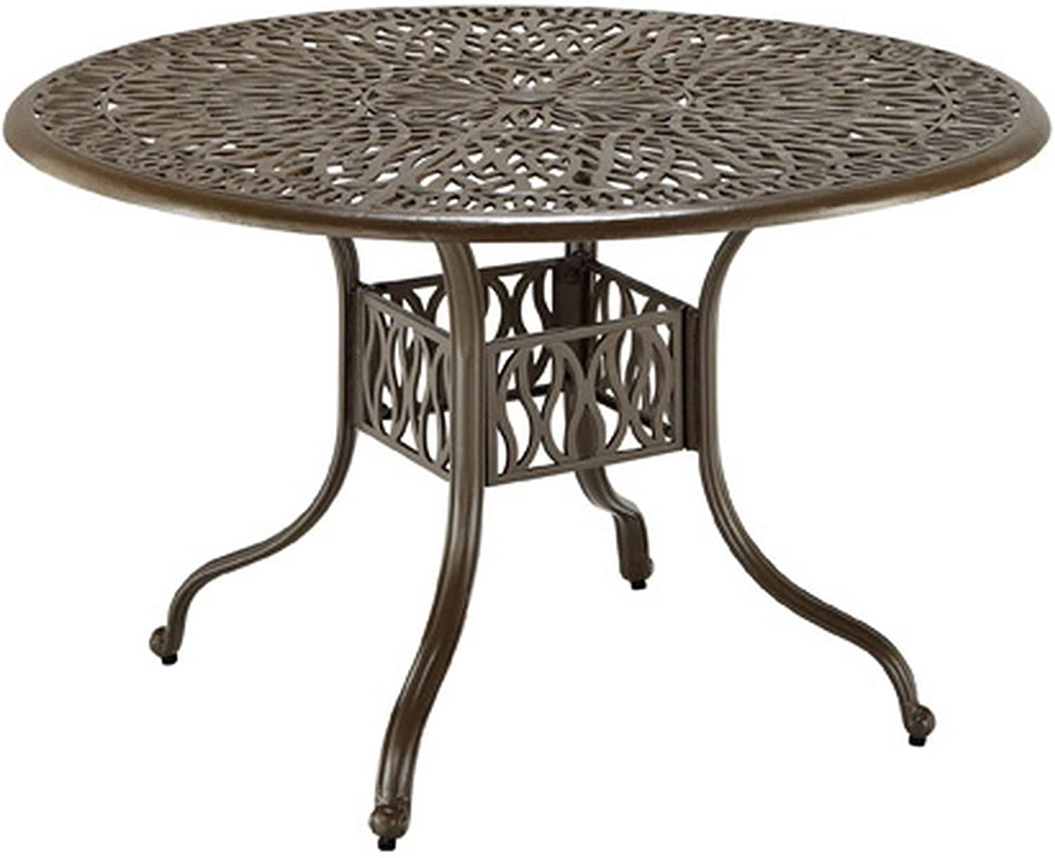 homestyles 6659-32 Outdoor Dining Table, 48Lx48Dx29H, Taupe