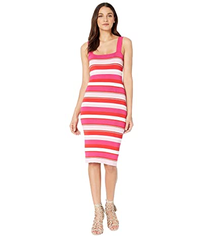 Bardot Multi Stripe Dress (Pink/Red) Women