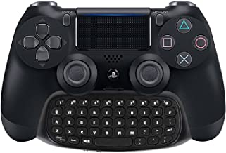 Megadream [2nd Generation] PS4 Keyboard, 2.4G Wireless Mini Gaming Instant Chatpad Keypad for Sony Playstation 4 PS4 Slim Pro DualShock 4 Controller Support 3.5mm Audio Headset and Rechargeable Black