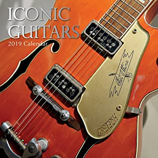 2019 Wall Calendar - Iconic Guitars Calendar, 12 x 12 Inch Monthly View, 16-Month, Features Signed Electric Guitars by Famous Artists, Includes 180 Reminder Stickers