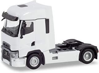herpa 310628 Tractor Renault T, White, Miniature Vehicle for Crafts, Collection and Gift