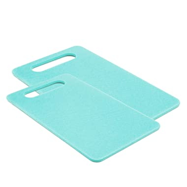 GreenLife CC001730-001 2-Piece Cutting Board Set, Medium & Large, 2pc, Turqouise