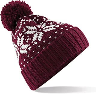 Unisex Fair Isle Snowstar Winter Beanie Hat