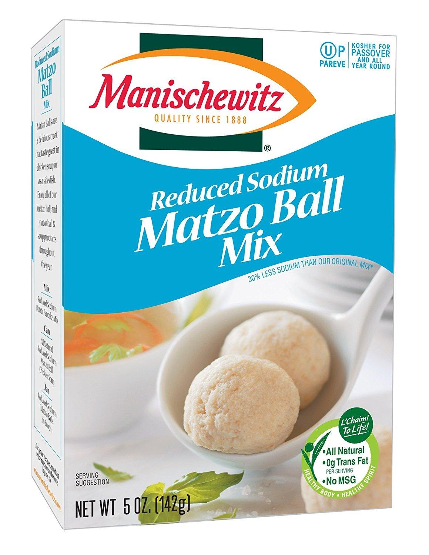 Manischewitz Reduced Sodium Matzo Ball Mix Ounce cas Max 53% OFF 5 - Free Shipping New per 12