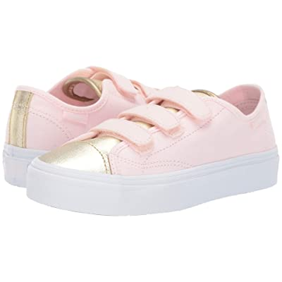 Vans Kids Style 23 V (Little Kid/Big Kid) ((Metallic Toe) Heavenly Pink/Gold) Girl