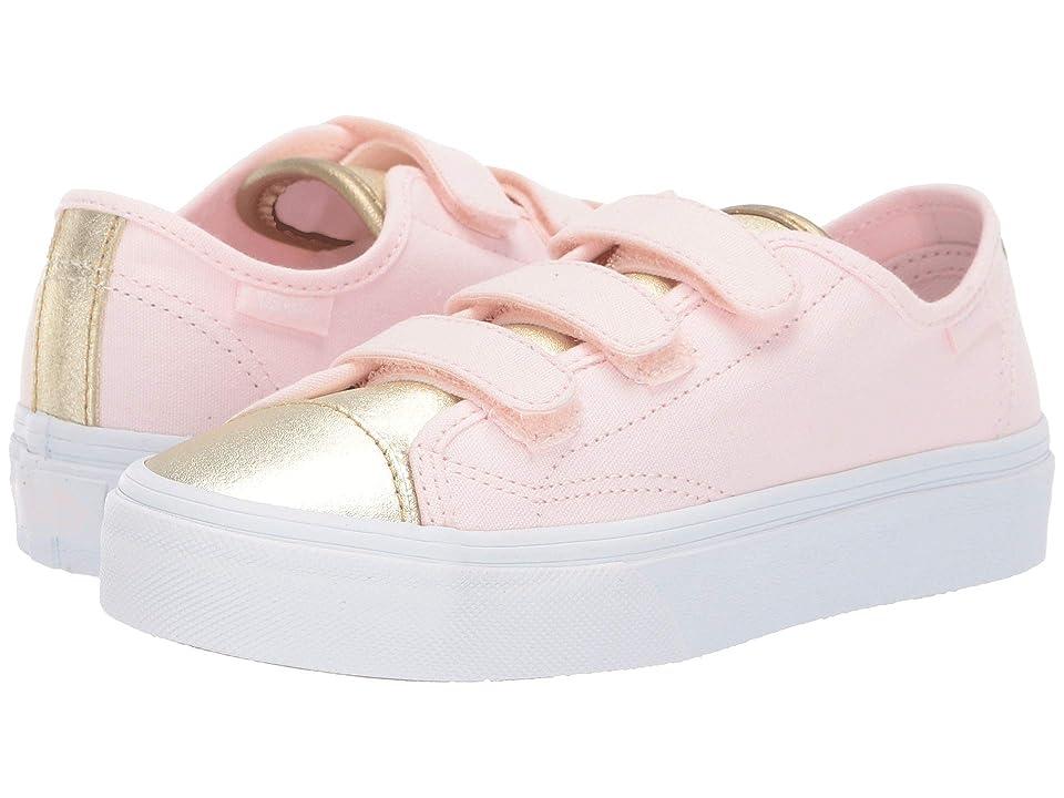 Vans Kids Style 23 V (Little Kid/Big Kid) ((Metallic Toe) Heavenly Pink/Gold) Girl