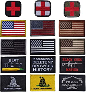 R.SASR Bundle 15 Pieces Tactical Military Morale Patch Set, USA Flag Patches and Morale Patch. (Mixed 15 Pieces)