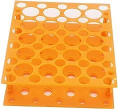 50 Well Centrifuge Tube Rack for 10ml/15ml/50ml Laboratory Plastic Tube Rack Holder(Pack of one) (Orange)