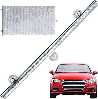 SANTOO Parasol retráctil para Parabrisas de Coche con Ventosa Universal 65 x 135 cm, Parabrisas Delantero protección UV para SUV MPV Auto - Cubierta 97%