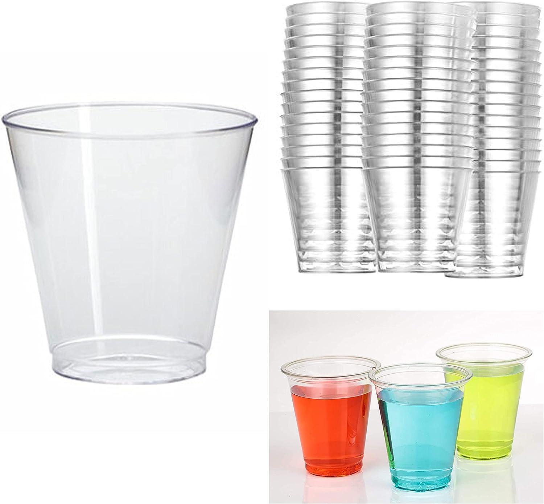 50 Mini Shot Glasses 5 Max 65% OFF ☆ popular Clear Hard Plastic 1 Disposable Oz Party Cu