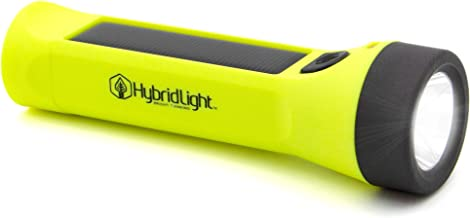 Hybridlight Journey 300 Solar/Rechargeable 300 Lumen LED Waterproof Flashlight. High/Low Beam, USB Cell Phone Charger, Bui...
