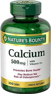 Nature's Bounty自然之宝钙是维持强壮健康骨骼的主要矿物质。*这些片剂含有维生素D,有助于钙的吸收和健康支持。<br>贮藏条件:请置于阴凉干燥处存放 <br>本品不能代替药物。Ingredients: vegetable Cellulose, Vegetable Magnesium Stearatg. 配料:蔬菜纤维素,植物镁硬脂酸盐。<br>中文仅供参考,以原文为准。重要提示:虽然我们会尽力确保产品信息正确无误,但有时生产商会修改其产品的配料表,因此产品实际包装上标明的信息可能与网页上展示的信息不一致。请不要只依赖于网页上展示的信息,务必在使用产品前仔细阅读产品标签、警告和使用说明。欲知更多产品信息,请咨询生产商。本页面展示信息仅供参考,不可替代医生、药剂师和其他持有执照的保健专家的建议。请不要根据页面信息进行自我诊断或疾病的治疗。如身体不适,请立即就医。有关膳食补充剂的信息和声称均未经美国食品药品管理局(FDA)核查,不得用于诊断、治疗和预防疾病。亚马逊美国(Amazon.com)对不准确或错误的产品信息不承担任何责任 。安全警告: