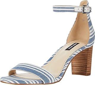 NINE WEST Pruce Block Heeled Sandal Denim 5