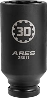 ARES 25011-1/2-Inch Drive 30MM 12 Point Axle Nut Socket - Extra Deep Impact Socket for Easy Removal of Axle Shaft Nuts