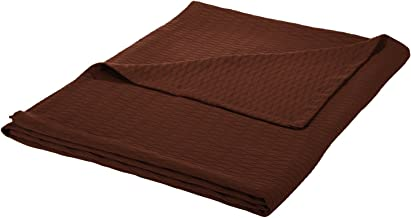 Superior 100% Cotton Thermal Blanket, Soft and Breathable Cotton for All Seasons, Bed Blanket and Oversized Throw Blanket ...