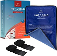 """Gel Ice Pack for Injuries Reusable Gel 15""""x10"""" + 2 Adjustable Straps   Hot & Cold Pack Compress Flexible Gel Ice Pack for Back, Shoulder, Elbow, Knee Pain Relief Therapy for Swelling & Bruising"""