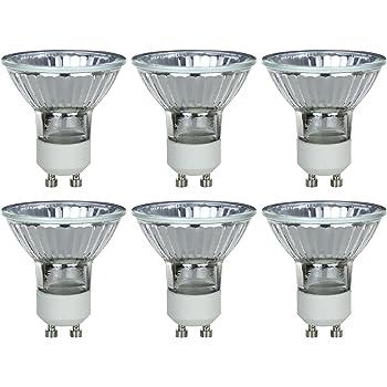 3200K Bright White GU10 Base Sunlite Series 50MR16//GU10//NFL//120V//6PK Halogen 50W 120V MR16 Narrow Flood Light Bulbs 6 Pack