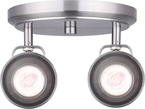 2021 CANARM ICW622A02BN10 LTD Polo 2 Light Ceiling/Wall, online Brushed Nickel with Adjustable 2021 Heads sale