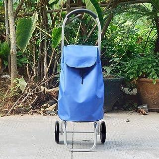 LQBDJPYS Folding Shopping Trolley with 6 Wheel Lightweight Aluminum Folding Luggage Cart Push-Pull Car Waterproof Fabric F...