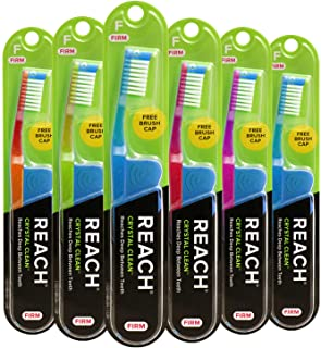 Sponsored Ad - Reach Crystal Clean Toothbrush, Firm Bristles, 1 Count, Pack Of 6