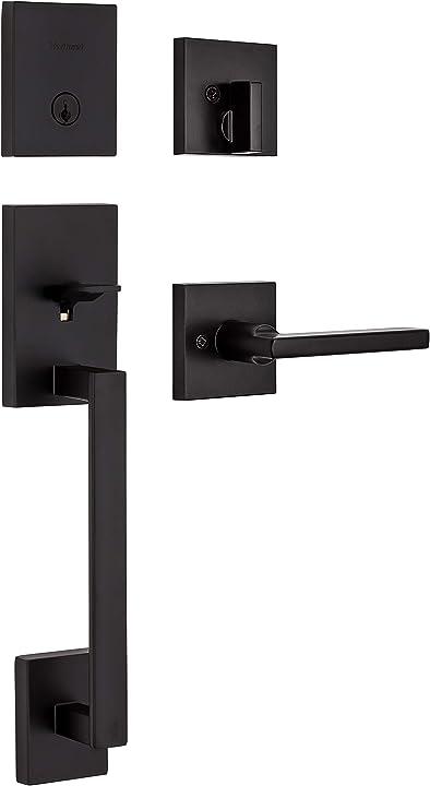 Maniglia a cilindro singolo con maniglia per porta halifax sicurezza smartkey kwikset 98180-020 san clemente
