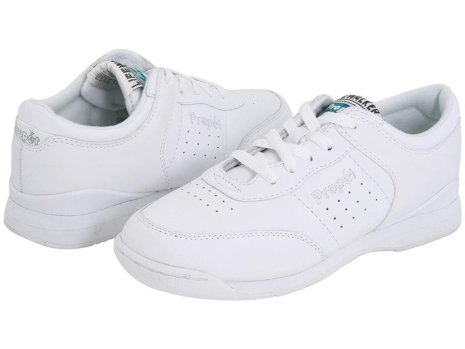 Propet Life Walker (White) Womens Walking Shoes