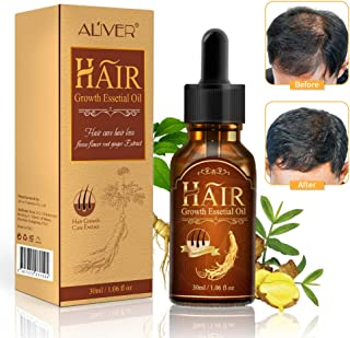 Bestidy Hair Growth Essential Oil Fleeceflower Root Ginger Extract Hair Care Serum Stops Hair Loss Promotes Hair Regrowth Topical Treatment for Thinning Hair for Women & Men