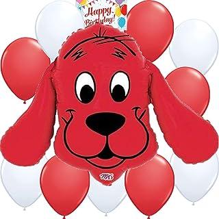 Clifford the Big Red Dog Big Balloon Birthday Decoration Bundle