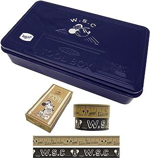 Workson スチールツールボックス L (マスキングテープ付き) 日本製 工具箱 [サイズ:H9.5×W38×D23㎝]