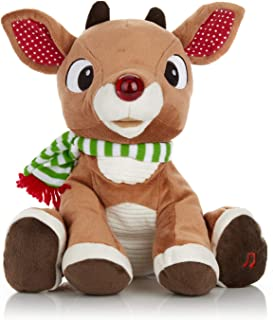 Rudolph the Red - Nosed Reindeer - Stuffed Animal Plush Toy with Music & Lights