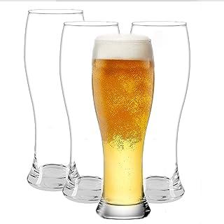Pilsner Glasses Set - Classics Beer glasses - Craft Wheat Beer Cup, Reusable, Dishwasher Safe, 25 oz - Set of 4