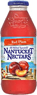 Nantucket Nectars Red Plum Juice Drink, 16 fl oz (12 Glass Bottles)